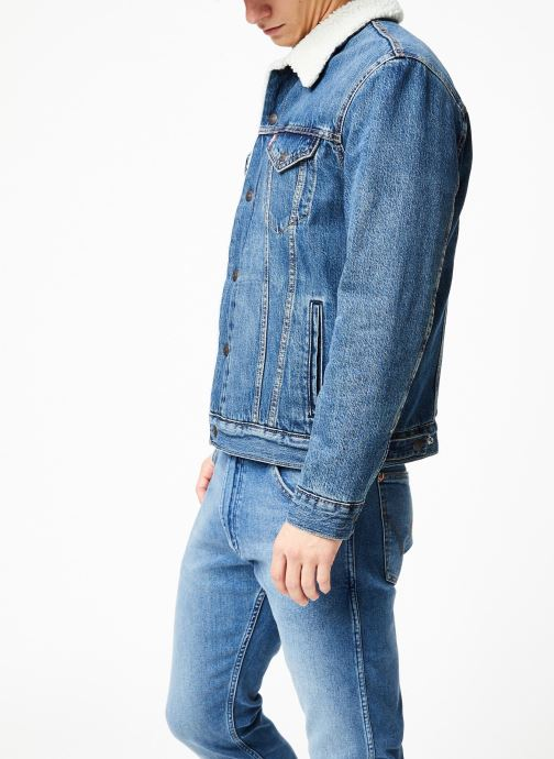 Vêtements Levi's Type 3 Sherpa Trucker M Bleu vue droite
