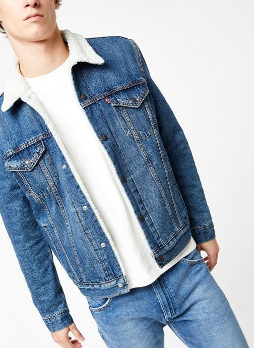 Vêtements Levi's Type 3 Sherpa Trucker M Bleu vue détail/paire