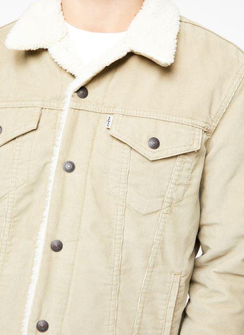 Vêtements Levi's Type 3 Sherpa Trucker M Beige vue face