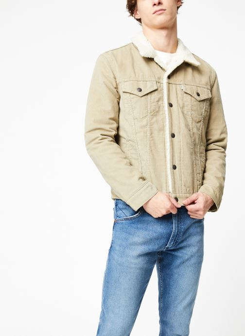 Vêtements Levi's Type 3 Sherpa Trucker M Beige vue droite