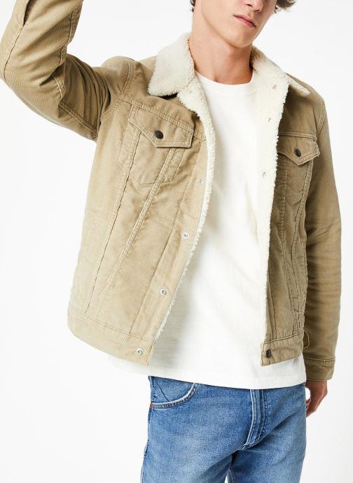 Vêtements Levi's Type 3 Sherpa Trucker M Beige vue détail/paire