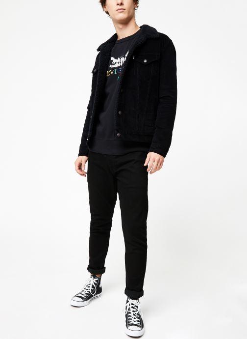 Vêtements Levi's Type 3 Sherpa Trucker M Noir vue bas / vue portée sac