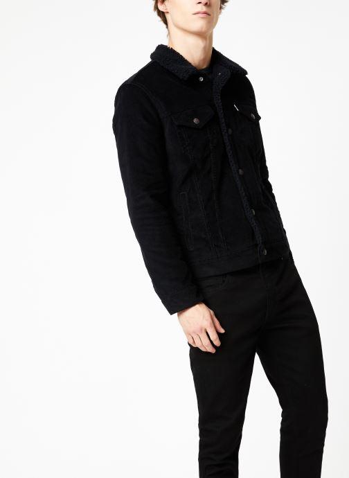 Vêtements Levi's Type 3 Sherpa Trucker M Noir vue droite