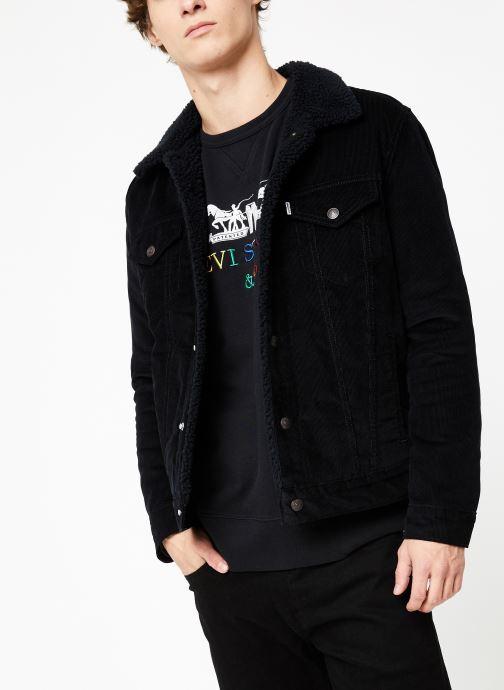 Vêtements Levi's Type 3 Sherpa Trucker M Noir vue détail/paire