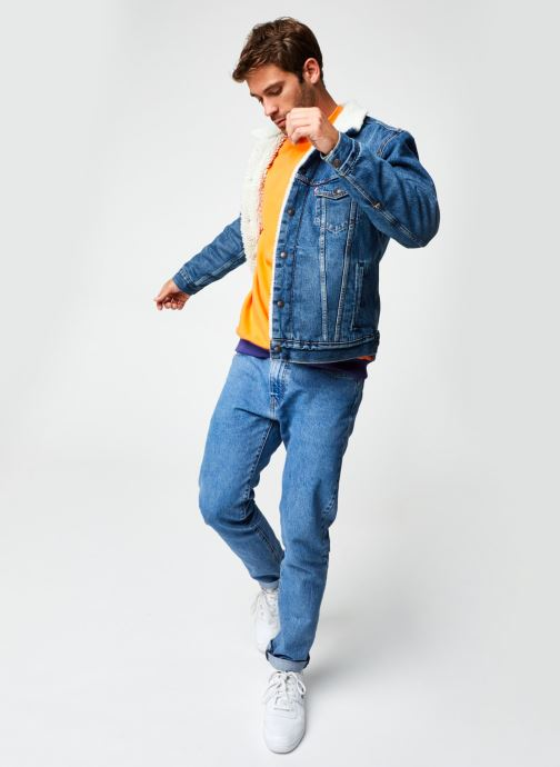 Vêtements Levi's Type 3 Sherpa Trucker M Bleu vue bas / vue portée sac