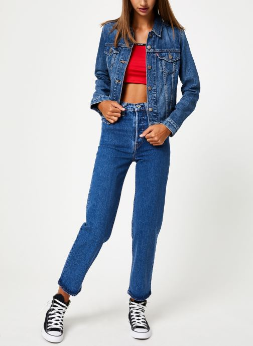 Vêtements Levi's Original Trucker W Bleu vue bas / vue portée sac