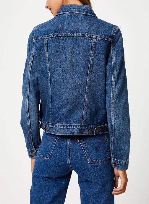 Vêtements Levi's Original Trucker W Bleu vue portées chaussures