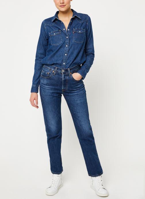 Vêtements Levi's Ultimate Western W Bleu vue bas / vue portée sac