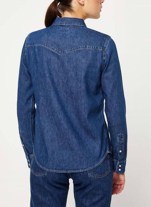 Vêtements Levi's Ultimate Western W Bleu vue portées chaussures