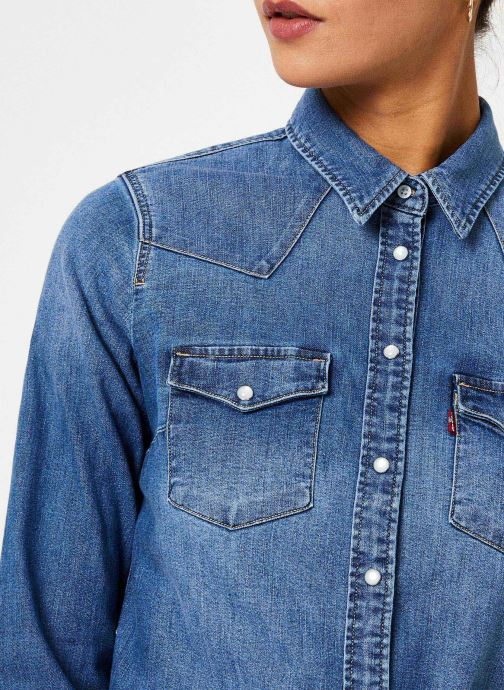Vêtements Levi's Ultimate Western W Bleu vue face