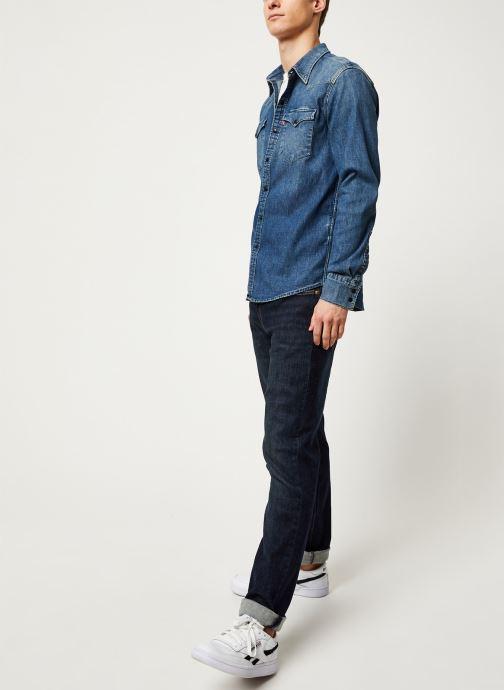 Vêtements Levi's Barstow Western M Bleu vue bas / vue portée sac