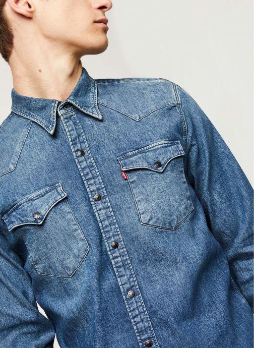 Vêtements Levi's Barstow Western M Bleu vue face