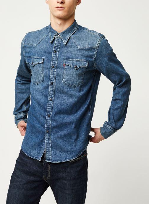Vêtements Levi's Barstow Western M Bleu vue droite