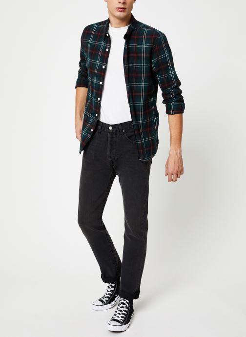 Vêtements Levi's Sunset 1 Pocket Shirt M Marron vue bas / vue portée sac