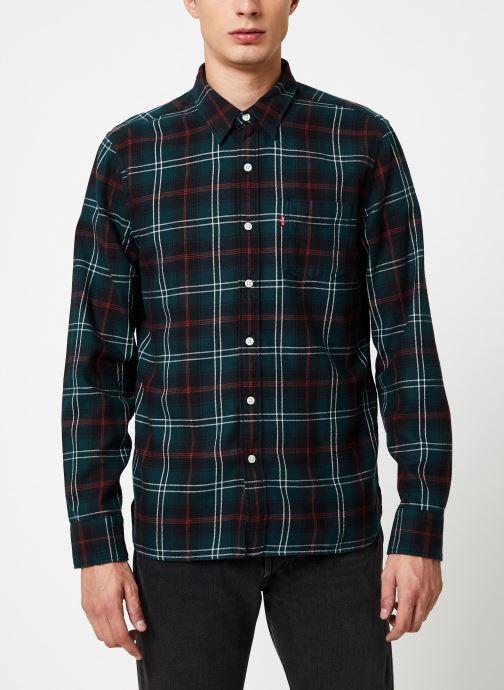 Vêtements Levi's Sunset 1 Pocket Shirt M Marron vue détail/paire