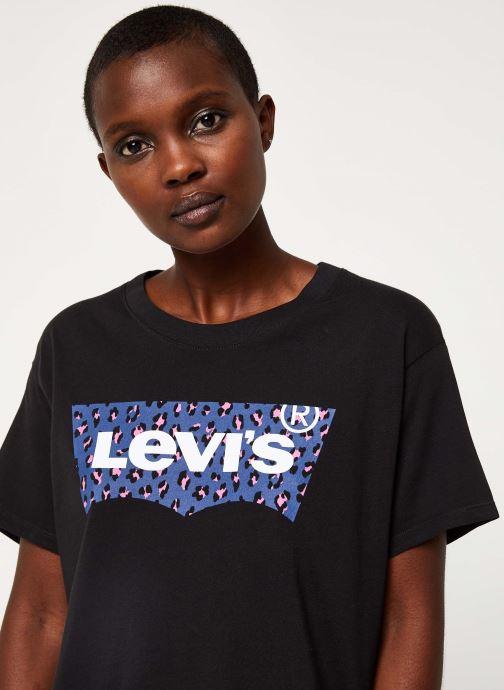 Vêtements Levi's Graphic Varsity Tee Logo W Noir vue face