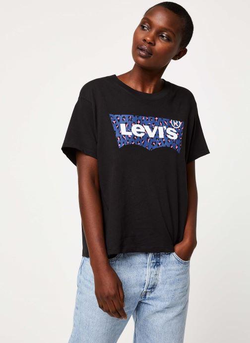 Vêtements Levi's Graphic Varsity Tee Logo W Noir vue droite