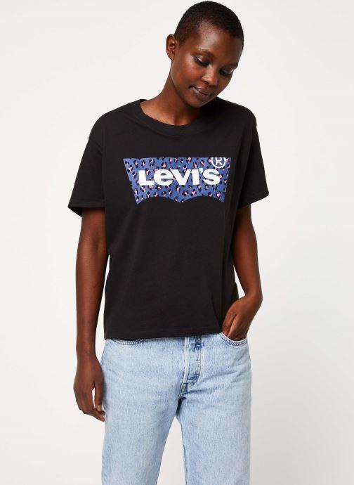 Vêtements Levi's Graphic Varsity Tee Logo W Noir vue détail/paire