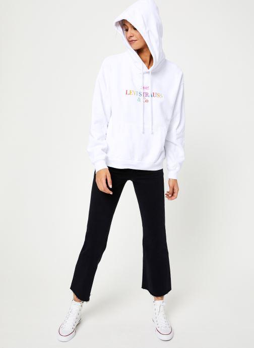 Vêtements Levi's Unbasic' Hoodie W Blanc vue bas / vue portée sac