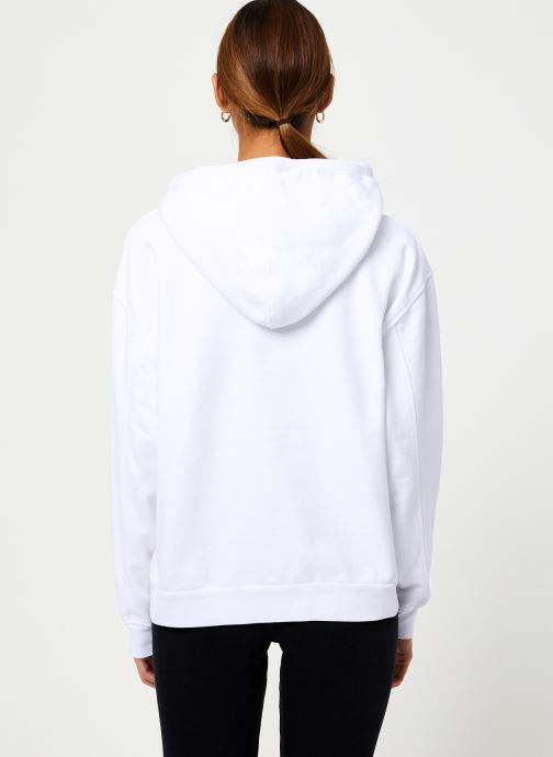 Vêtements Levi's Unbasic' Hoodie W Blanc vue portées chaussures