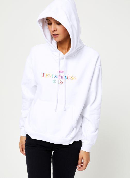 Vêtements Levi's Unbasic' Hoodie W Blanc vue droite