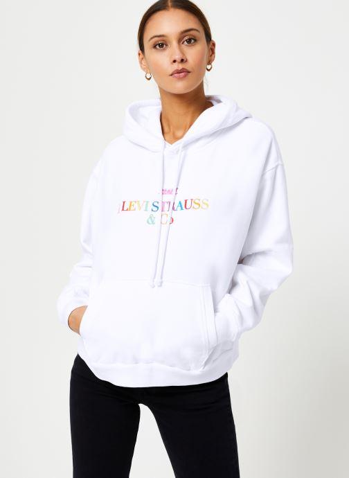 Vêtements Levi's Unbasic' Hoodie W Blanc vue détail/paire