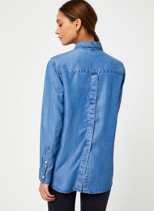 Vêtements Levi's The Ultimate Bf Btn Back W Bleu vue portées chaussures
