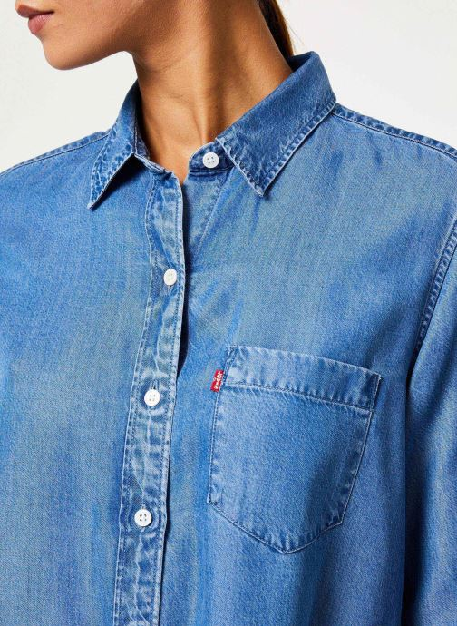 Vêtements Levi's The Ultimate Bf Btn Back W Bleu vue face