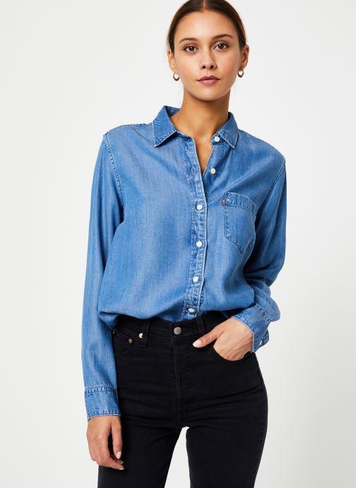 Vêtements Levi's The Ultimate Bf Btn Back W Bleu vue droite