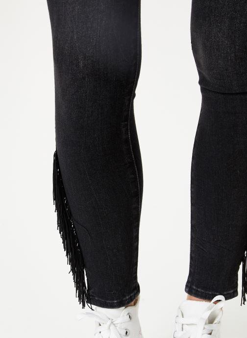 Vêtements Levi's 721 Hirise Fringe Ankle W Noir vue face