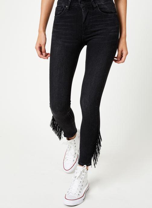 Vêtements Levi's 721 Hirise Fringe Ankle W Noir vue détail/paire