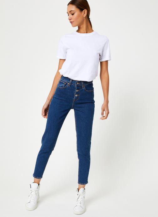 Vêtements Levi's Exposed Button Mom Jean W Bleu vue bas / vue portée sac