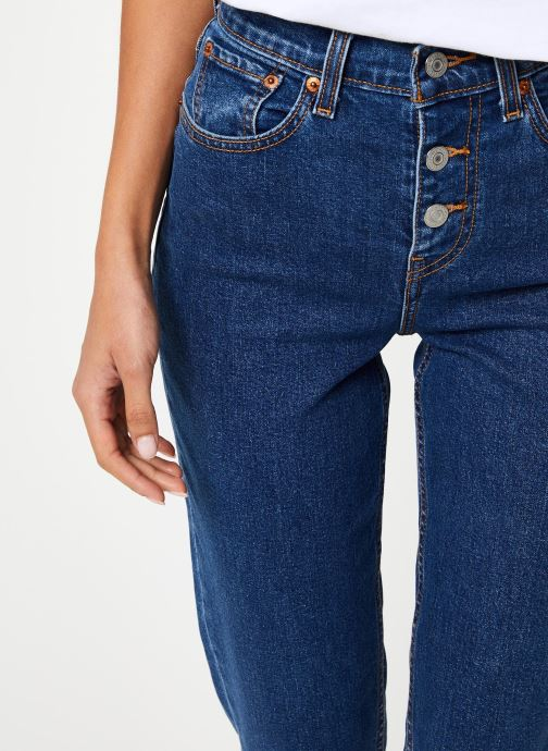 Vêtements Levi's Exposed Button Mom Jean W Bleu vue face