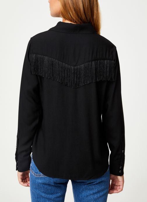 Vêtements Levi's Selita Western W/ Fringe W Noir vue portées chaussures
