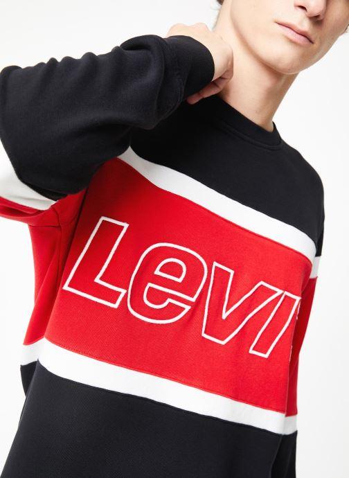 Vêtements Levi's Pieced Crew Sweatshirt M Bleu vue face