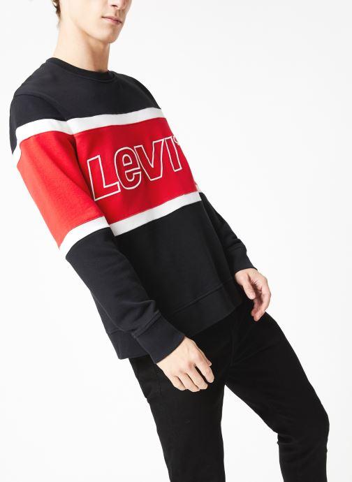 Vêtements Levi's Pieced Crew Sweatshirt M Bleu vue droite