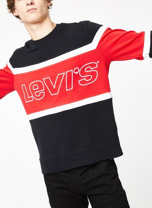 Vêtements Levi's Pieced Crew Sweatshirt M Bleu vue détail/paire