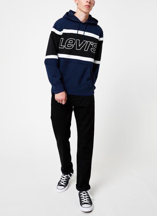 Vêtements Levi's Pieced Hoodie M Bleu vue bas / vue portée sac