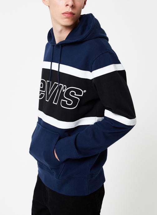 Vêtements Levi's Pieced Hoodie M Bleu vue droite