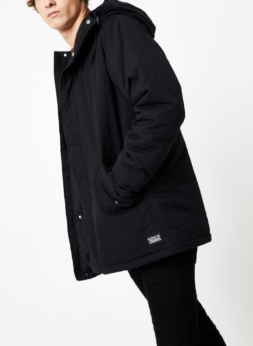 Vêtements Levi's Thermore Padded Parka M Noir vue droite