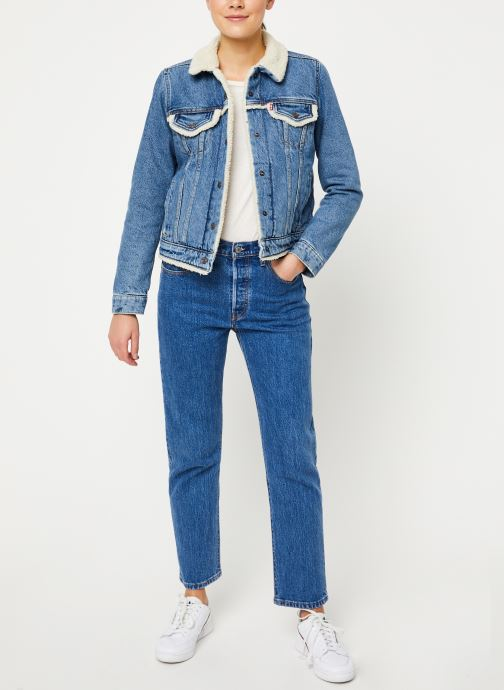 Vêtements Levi's Original Sherpa Trim Trucker W Bleu vue bas / vue portée sac