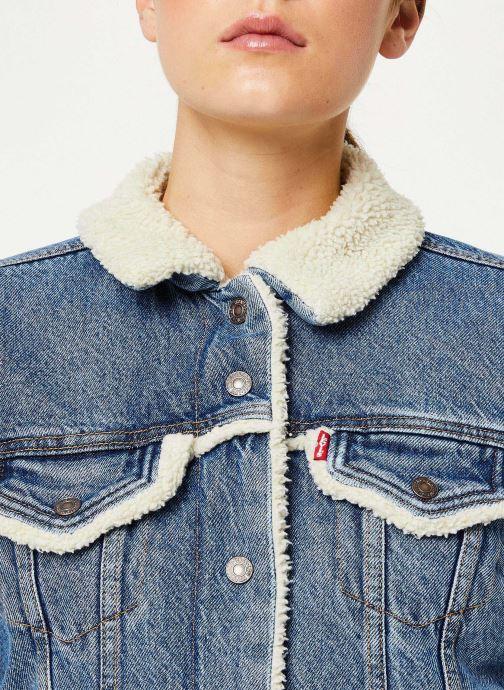 Vêtements Levi's Original Sherpa Trim Trucker W Bleu vue face