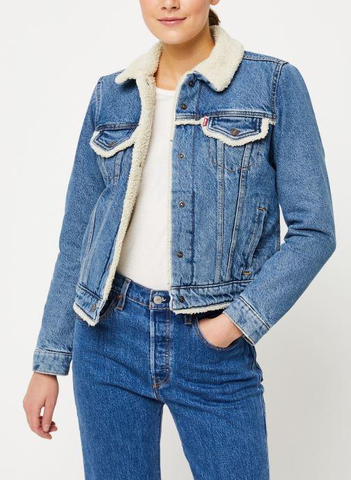 Vêtements Levi's Original Sherpa Trim Trucker W Bleu vue détail/paire