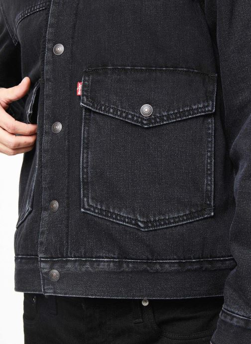 Vêtements Levi's Patch Pkt Sherpa Trucker M Noir vue face