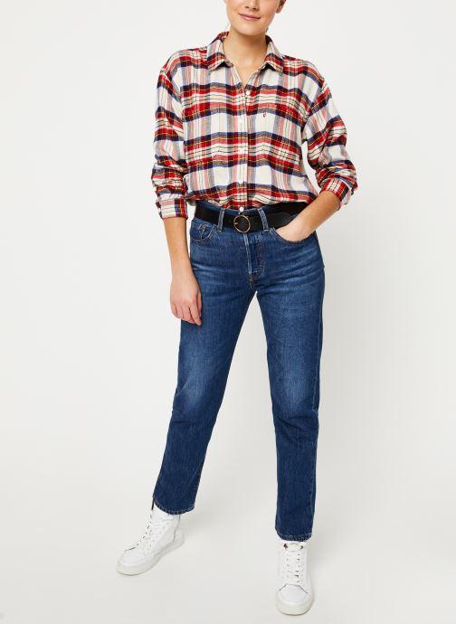 Vêtements Levi's The Utility Shirt W Rouge vue bas / vue portée sac