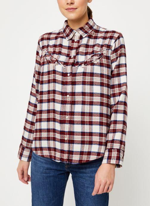 Kleding Levi's Dori Western Shirt W Rood rechts