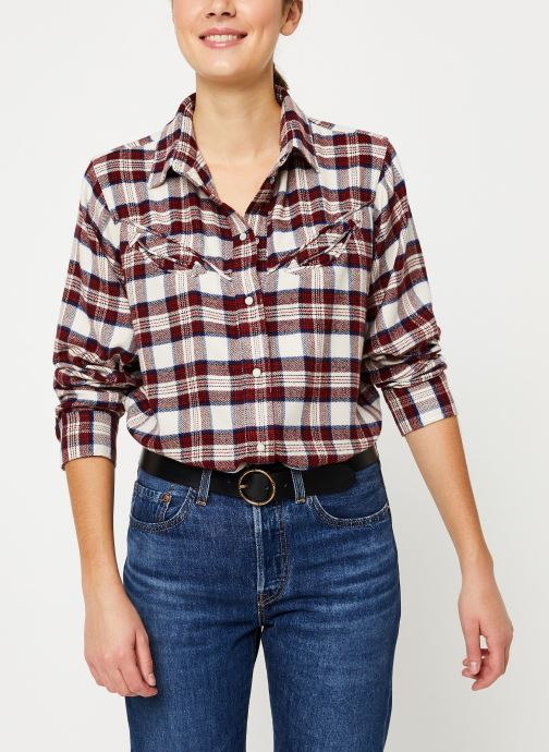 Kleding Levi's Dori Western Shirt W Rood detail