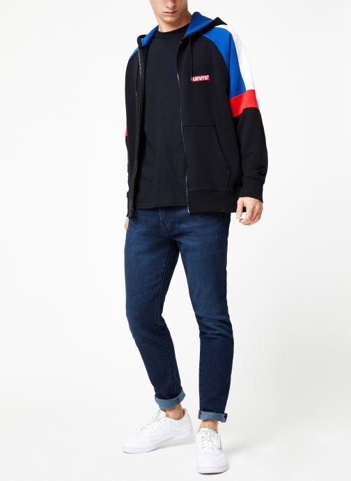 Vêtements Levi's Pieced Fullzip Hoodie M Noir vue bas / vue portée sac