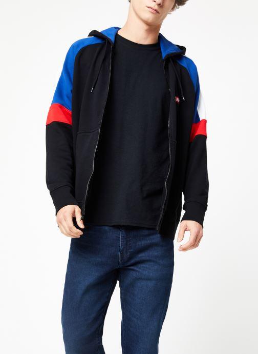Vêtements Levi's Pieced Fullzip Hoodie M Noir vue droite