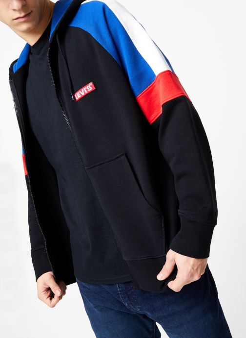Vêtements Levi's Pieced Fullzip Hoodie M Noir vue détail/paire